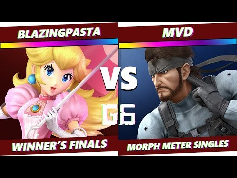 Glitch 6 SSBU - BlazingPasta (Peach) VS MVD (Snake) - Smash Ultimate Morph Meter WF