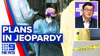 Coronavirus: Melbourne's reopening plan potentially disrupted | 9 News Australia