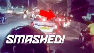 THEY SMASHED INTO THE CAR! Insane Night Ride Through Hyderabad, India