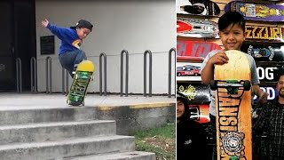 Download Incredible 3-Year-Old Skateboarder Won't Give Up On Stair Jump Until He Lands It Mp3 and Videos