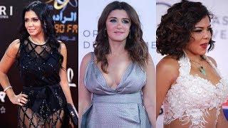 فنانين اتعرضو لمواقف محرجه بسبب الفساتين المثيره