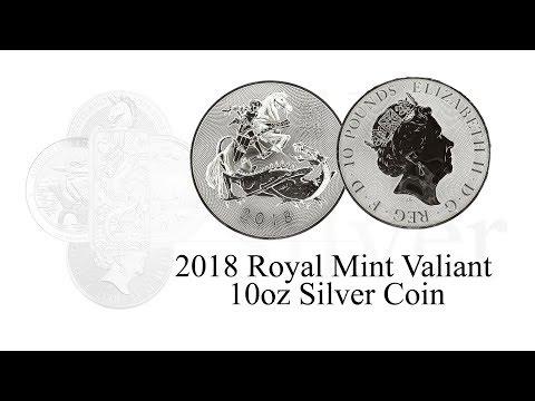 10oz Valiant Silver Bullion Coin 2018 Royal Mint  - St. George's Day