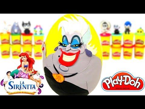 Huevo Sorpresa Gigante de Úrsula de Ariel La Sirenita de Plastilina Play Doh