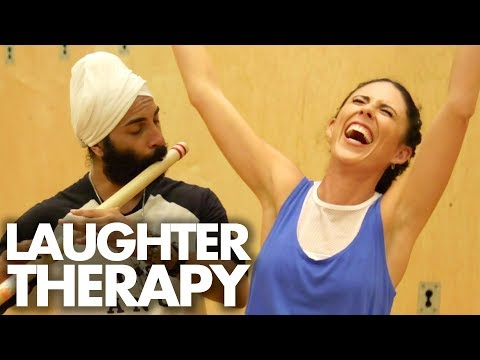 Trying LAUGHTER Yoga! (Beauty Trippin)