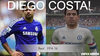 DIEGO COSTA IN FIFA 16 AND PES 2016! (Face Review) #82