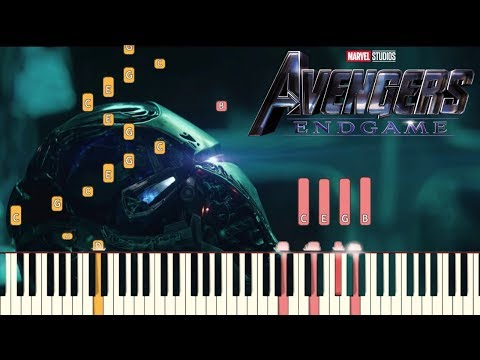Avengers: Endgame Official Trailer #2 Music -  Piano Tutorial (Synthesia) thumbnail