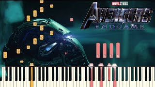 Gambar cover Avengers: Endgame Official Trailer #2 Music -  Piano Tutorial (Synthesia)