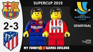 Barcelona vs Atletico Madrid 2 3 Supercopa de España 2019 in LEGO All Goals Highlights Football