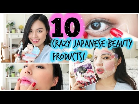 Trying Out 10 Crazy Japanese Beauty Products! | roseannetangrs