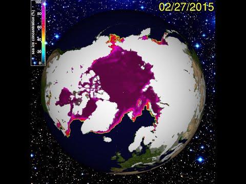 2/28/2015 -- North Pole frozen solid -- South Pole re-freezing -- East Coast frozen waves?!
