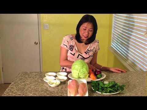 Vietnamese Chicken Cabbage Salad-Goi Ga Bap Cai-How To Make Vietnamese Chicken Cabbage Salad-Goi Ga