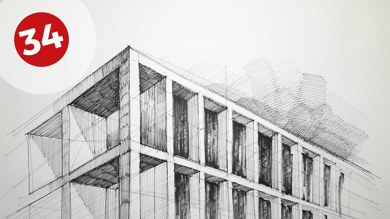 drawing building s facade daily architecture sketches 34 youtube