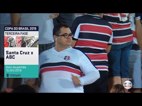 Globo HD⁶⁰ | Gols de Santa Cruz 3 x 0 ABC pela 3ª fase da Copa do Brasil 2019