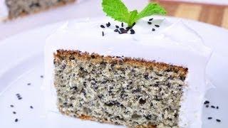 เค้กงาดำ Black Sesame Cake