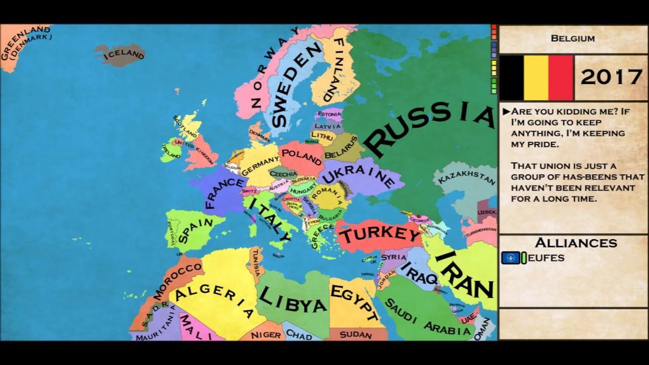 alternate future of europe map Alternate Future of Europe Part 1   Independence   YouTube