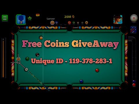 8 Ball Pool Free Unlimited Gold Coins GiveAway   Unique ID 119-378-283-1   8th June 2017