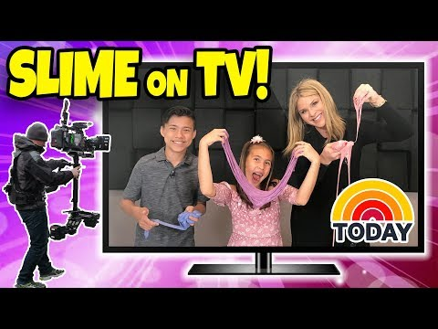 MAKING SLIME ON TV!!! Evan & Jillian on the Today Show!