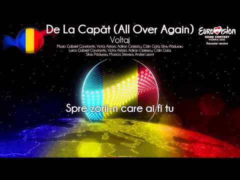 "Voltaj - ""De La Capăt (All Over Again)"" (Romania) - [Karaoke version]"