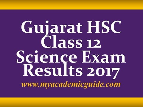 Gujarat GSEB HSC Class 12 Science Results 2017- Download