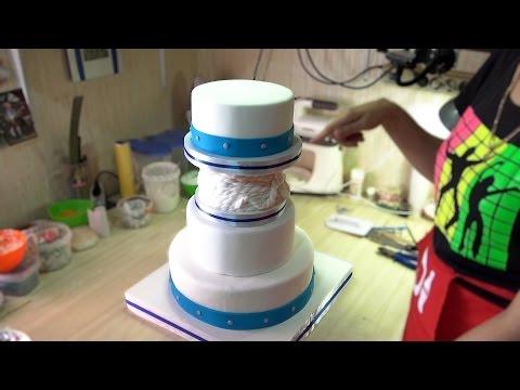 Сборка Свадебного торта с фальш-ярусом - Я - ТОРТодел!