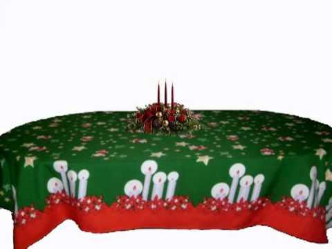 Decofem manteles de navidad youtube - Manteles para navidad ...