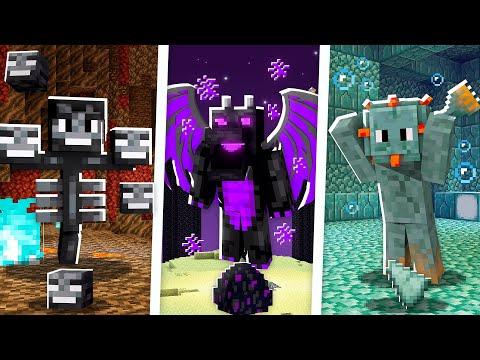 Minecraft MAS temos as RAÇAS dos BOSS! 💀🐉🐡 #12