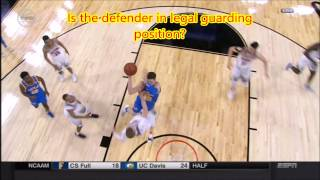 Block or charge call - Restricted Area close - Does the defender have legal guarding position?