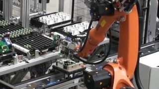 Ligne d'assemblage robotisée de compteurs électriques