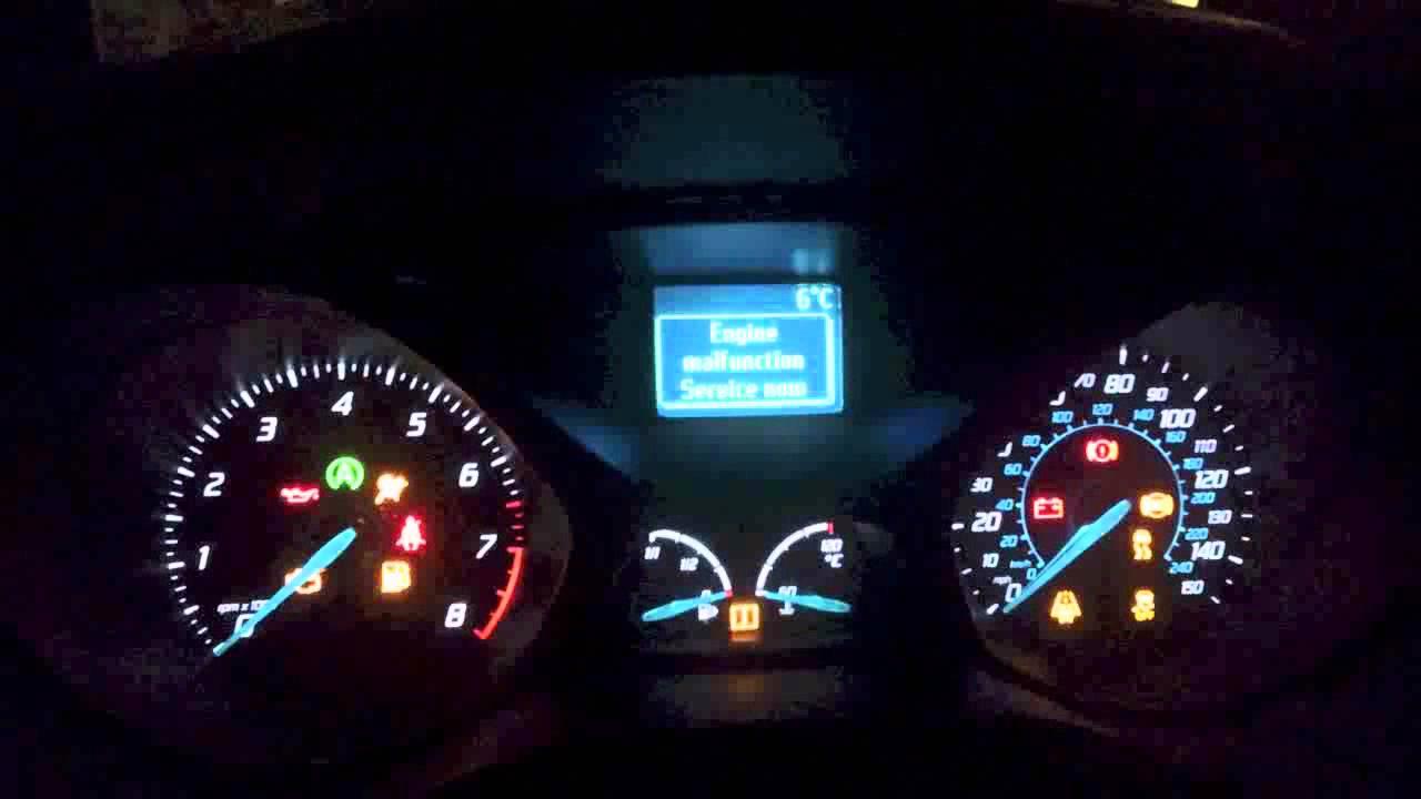 Ford focus c max engine warning light