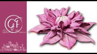 How to make a leather flower,  Clematis Josephine , Video Tutotial