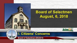 Acton, MA. Board of Selectmen 8/6/18