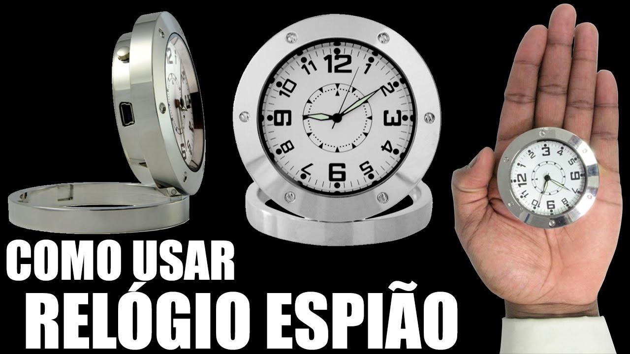 043ad68a6e1 COMO USAR RELÓGIO DE MESA COM CÂMERA ESPIÃ - MICRO CÂMERA ESCONDIDA - MINI  FILMADORA ESPIÃ DSFARÇADA