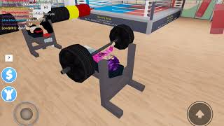 I am so strong! | Roblox fitness center
