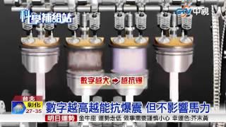 【中視新聞】 推95+無鉛汽油 專家:數字大不一定好 20150623