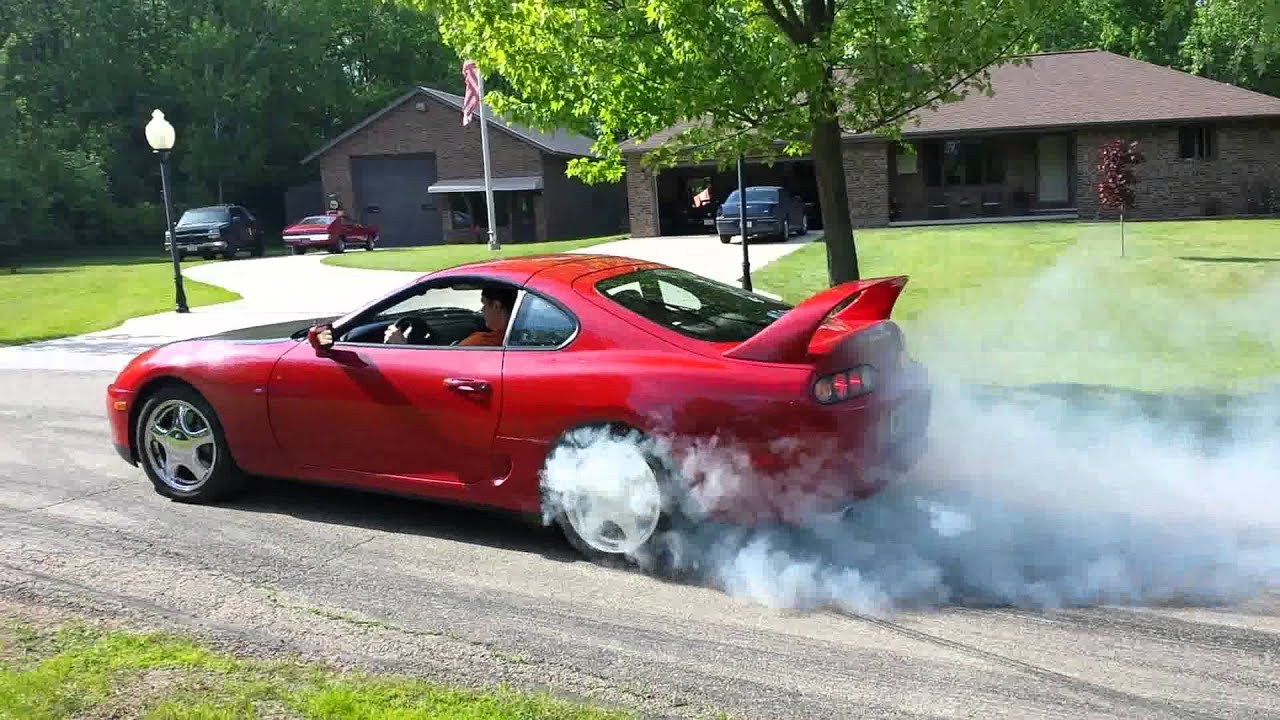 Charlie S Stock Supra Twin Turbo Burnout Youtube