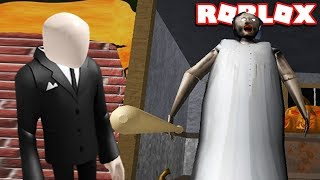 GRANNY AND SLENDERMAN IN ROBLOX GRANNY (HALLOWEEN UPDATE)