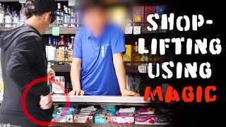 Magician uses skill to SHOPLIFT ❌Do Not attempt this!!-Julien Magic