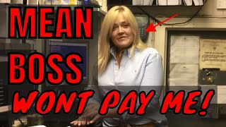 MY BOSS WONT PAY ME MONEY SHE LOST GAMBLING!! ofcp