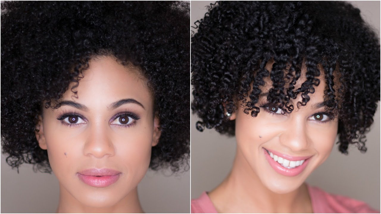 How To Shingle Natural Hair For Definition On 4a 3c Hair