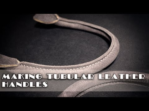 Making a tubular leather handle / leather craft tutorials