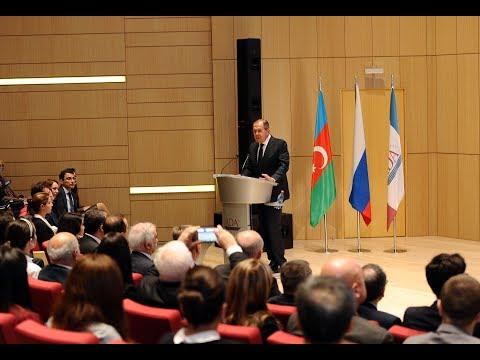 Russian MFA Sergey Lavrov speaks at ADA University