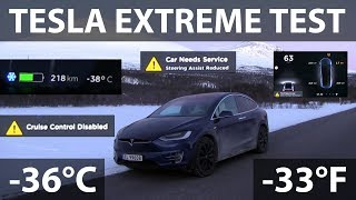 Model X extreme testing in -36°C/-33°F