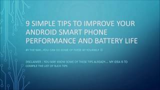 Tips to improve Android phone battery life and performance | Android battery life tips
