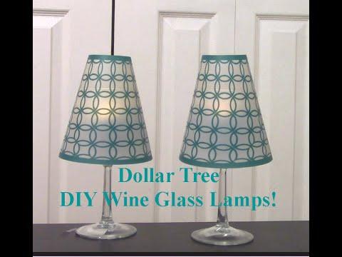Diy dollar tree wine glass lamps