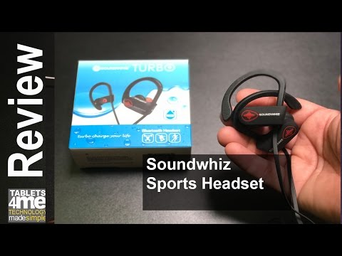 SoundWhiz Waterproof Wireless Sports Earbuds with Noise Cancelling Mic with 15% off