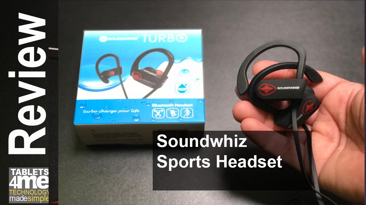 SoundWhiz Waterproof Wireless Sports Earbuds with Noise Cancelling ...