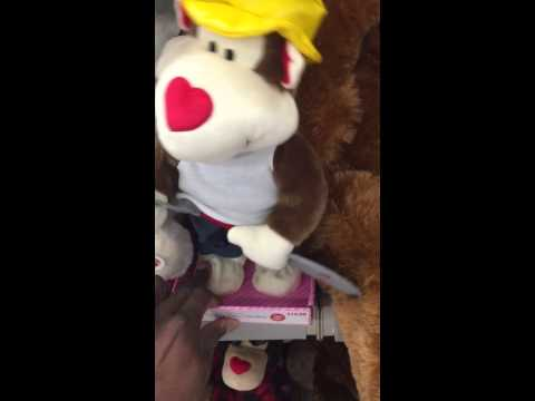 Gold digger sound dancing plush animal