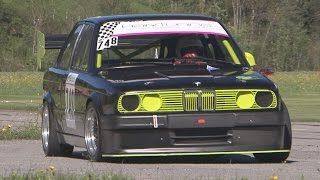 FAST BMW 325 E30 with 3.0 Engine, Side Pipe, Sequential Gearbox, onboard St-Ursanne - Les Rangiers(Amazing BMW 325 E30 with 3.0 Engine, Side Pipe, Sequential Gearbox with Full Onboard from Martin Bürki! DVD