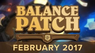 February Balance Patch Preview [Hearthstone]