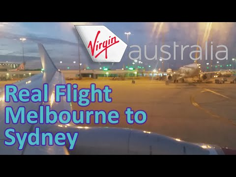 Real Flight | Virgin Australia | Melbourne to Sydney